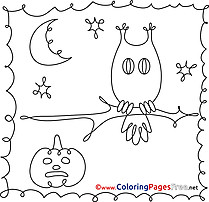 Image Halloween free Coloring Pages Owl