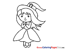 Little Sorceress download Halloween Coloring Pages