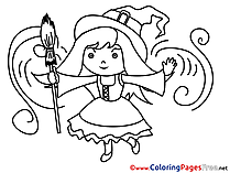 Magician Coloring Sheets Halloween free