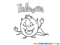 Monster Halloween Coloring Pages download