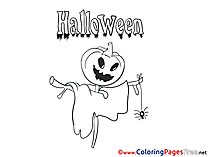 Scarecrow Halloween Coloring Pages download