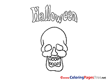 Skull printable Halloween Coloring Sheets