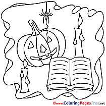 Spider Magic Coloring Pages Halloween