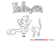 Vampire Coloring Sheets Halloween free