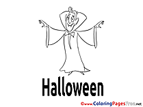 Vampire Colouring Sheet download Halloween