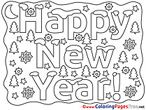 Christmas Eve Kids New Year Coloring Pages