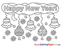 Decoration printable New Year Coloring Sheets