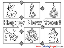 Printable Coloring Pages New Year