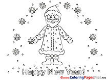 Santa Claus Colouring Sheet download New Year