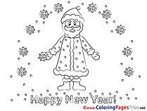 Santa Claus Colouring Sheet download New Year