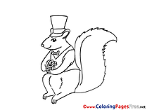Squirrel New Year Coloring Pages download
