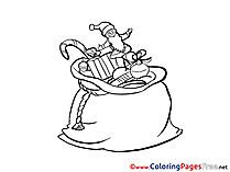 Toys Colouring Sheet Bag download New Year