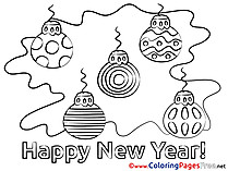 Toys free Colouring Page New Year