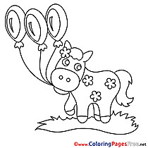 Balloons Children download Colouring Page