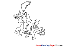 Circus Colouring Sheet download free