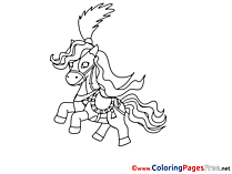 Circus Horse for Children free Coloring Pages