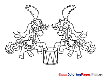 Circus Horse printable Coloring Sheets download