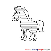 Coloring Pages Horse for free