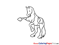 Dance Horse download printable Coloring Pages