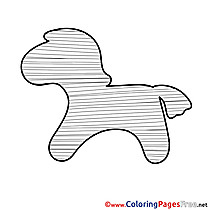 Download Colouring Sheet free Horse