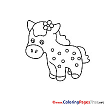 Drawing Pony Kids download Coloring Pages