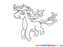 Foal free Colouring Page download
