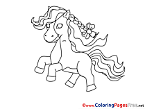 Foal printable Coloring Sheets download