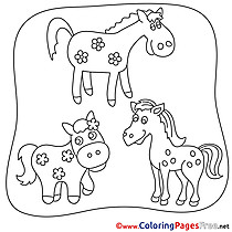 Free Horse Colouring Page download