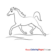 Gallop Children Coloring Pages free