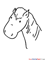 Head Horse Colouring Page printable free