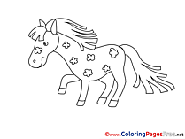 Horse free Colouring Page download