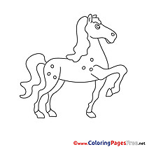 Image Horse printable Coloring Sheets download