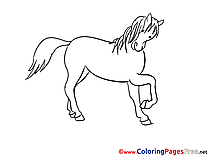 Mare Coloring Sheets download free
