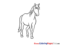 Mare Kids download Coloring Pages