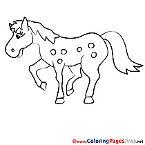 Peas Horse Colouring Page printable free
