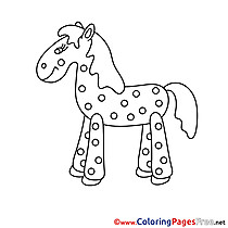 Peas Horse for Children free Coloring Pages