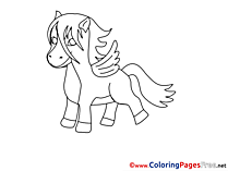 Pegasus Children download Colouring Page