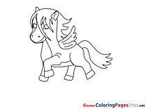 Pegasus for Children free Coloring Pages