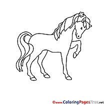 Picture Horse printable Coloring Pages for free