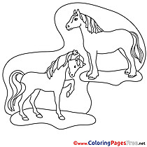 Picture Horses free printable Coloring Sheets
