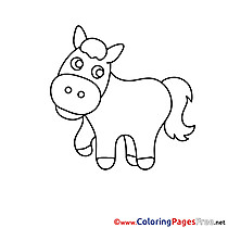 Picture Pony Colouring Sheet download free