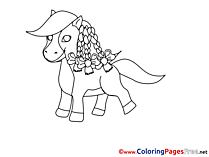 Pony Colouring Page printable free