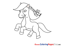 Pony for Kids printable Colouring Page