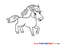 Pony printable Coloring Pages for free