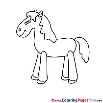 Printable Horse Coloring Pages for free