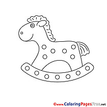 Rocking-Horse free Colouring Page download