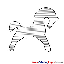 Silhouette Horse printable Coloring Pages for free