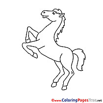 Stallion Children Coloring Pages free