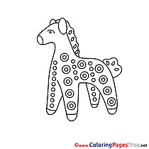 Statuette Horse Children download Colouring Page