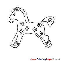 Statuette Horse download Colouring Sheet free